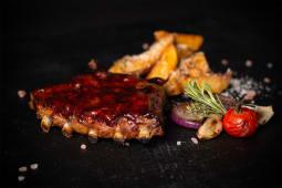 Fast Food coaste de porc barbeque