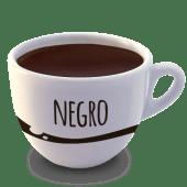 Vaso de chocolate negro