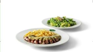 Entrecôte com Salada Verde