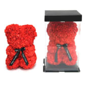 Flower Teddy rojo (25 cm.)