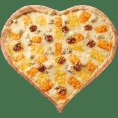 Піца-Серце Чотири сиру (750г)