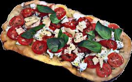 Pomodoro fresco, ricotta e parmigiano