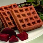 Waffles congelados de remolacha