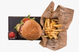 Hamburger s pomfritom