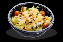 Salada de frango confitado