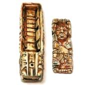 Cutie-Suport de Betisoare Parfumate Ceramic Motiv Egiptean