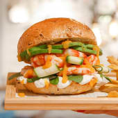 Shrimps Avo Burger