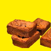 Brownie sin topping