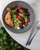 Теплий салат із печінкою (340г)