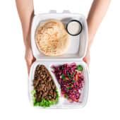 Тарілка телятини із салатом (370г)