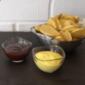 Patatas caseras queso y barbacoa