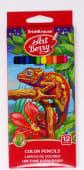 Lapices Colores Largos Triangulares Jgox12Un Cja Carton 32479