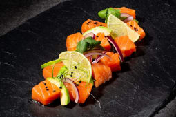 Севіче з лосося з фрешем лайму (220г)