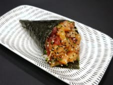Temaki - Salmon & Tuna Kimuchi