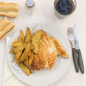 Pollo deshuesado grillé