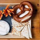 Mezze con pretzel