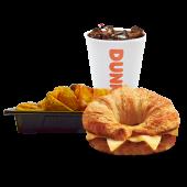კომბო ორმაგი ყველის კრუასანი/  Combo Double Cheese Croissant