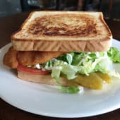 Sándwich vegetariano con huevo