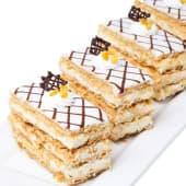 Pastel milhojas de vainilla (porción)