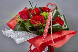 Bouquet de 6 rosas especial
