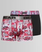 Twin-pack comic print bodyshorts