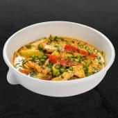 Curry galben cu pui şi mazăre