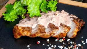 Свинина гриль з інжирним соусом (170/20/50г)
