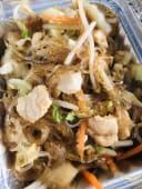 12.Spaghetti di soia con pollo e verdure miste