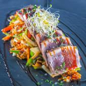 Tataki de atún rojo a la brasa
