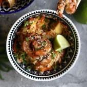 Рис басматі з креветками й омлетом тамаго (350г)