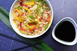 Wok de arroz veggie