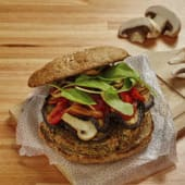Hamburguesa veggie + acompañamiento