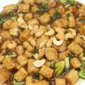 Fried Baby Corn With Cashew In Ginger And Garlic Sauce