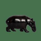 Hippo Ebony Wooden Sculpture