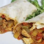 Burrito de pollo a la plancha