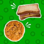Sandwich mixto + galletón integral de avena