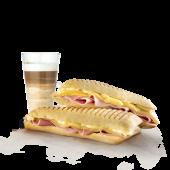 Tostado Jamón Large y Queso Large + Café o jugo