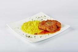 Ossobuco di vitello alla milanese con risotto