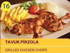 Tavuk pirzola - grilled chicken chops 2pcs