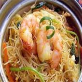 29A. Fideos chino al wok con gambas
