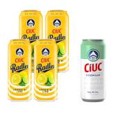 4 X Ciuc Radler Lamaie si Lime 1.9% alcool + 1 X Ciuc Premium doza