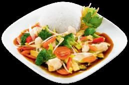 Smażone warzywa z woka