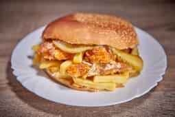 Hamburger cu pulpa de pui