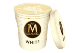 Tarrina Magnum white (440 ml.)