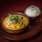 Curry amarillo de gambas