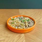 Паста по-строгановськи з телятиною і запеченими грибами (300г)