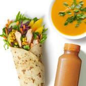 Zestaw Wrap Tajski z zupą i sokiem