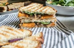 Grilled Vegetable & Cheddar Cheese Sandwich