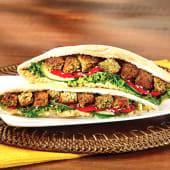Pan árabe de falafel y hummus