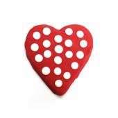 Galleta corazón rojo de chocolate